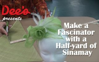 Video: Make a Fascinator with Just a Quarter-Yard of Sinamay